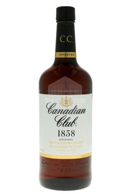 FLES CANADIAN CLUB WHISKY 1,00 LTR-0