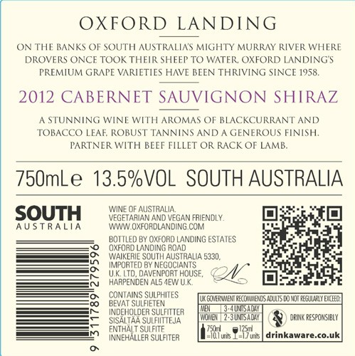 FLES OXFORD LANDING ESTATES CAB/SHIR 0.75 LTR.-0