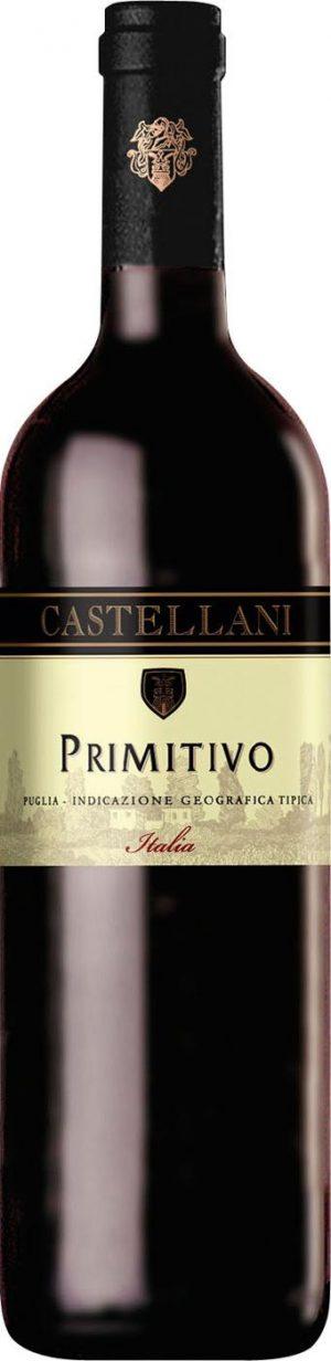 FLES CASTELLANI PRIMITIVO ROSSO 0.75 LTR.-0