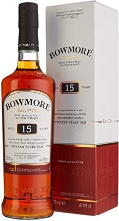 FLES BOWMORE ISLAY MALT 15YR SHERRY 0.7 LTR-0