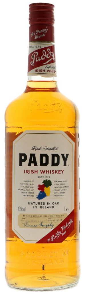 PADDY IRISH WHISKEY 1,00 LTR