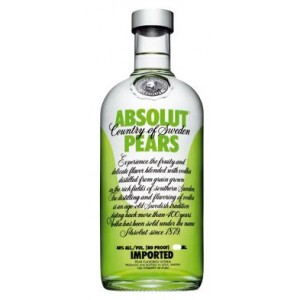 FLES ABSOLUT VODKA PEARS 0.70 LTR-0