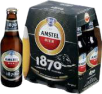 6 PACK AMSTEL BIER 1870 6 X 0.30 LTR-0