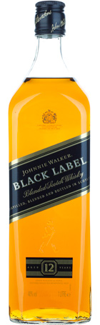 FLES JOHNNIE WALKER BLACK LABEL 1,00 LTR-0