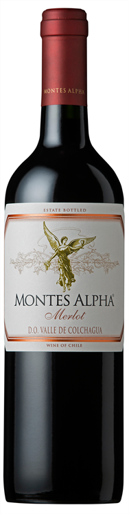 FLES MONTES ALPHA MERLOT 0.75 LTR.-0