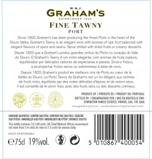 FLES GRAHAM'S PORT FINE TAWNY 0.75 LTR-0
