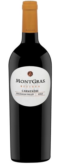 FLES MONTGRAS CARMENERE RESERVA 0.75 LTR.-0
