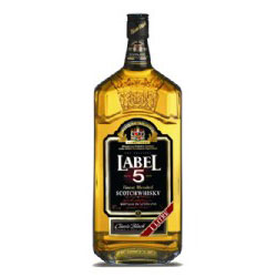 FLES LABEL 5 SCOTCH WHISKY 1,00 LTR-0