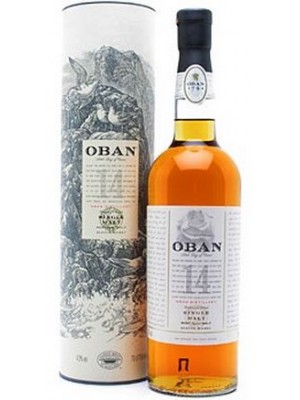 FLES OBAN HIGHLAND MALT 14 YEARS 0.7 LTR-0