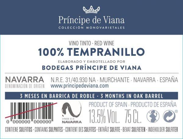 FLES PRINCIPE DE VIANA TEMPRANILLO 0.75 LTR.-0