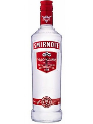 FLES SMIRNOFF VODKA RED LABEL 1.00 LTR-0