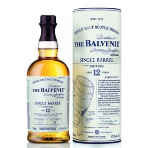 FLES BALVENIE SINGLE BARREL 12 YO 0.7 LTR-0