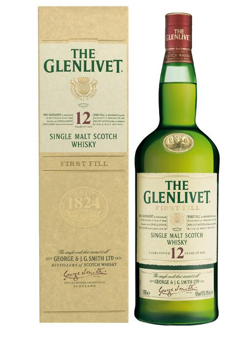 FLES THE GLENLIVET 12 YEARS + GB 40,00 % 1 LTR-0