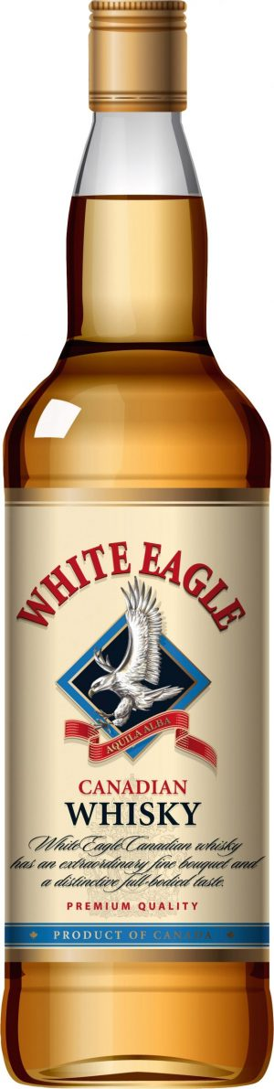 FLES WHITE EAGLE CANADIAN WHISKY 1,00 LTR-0