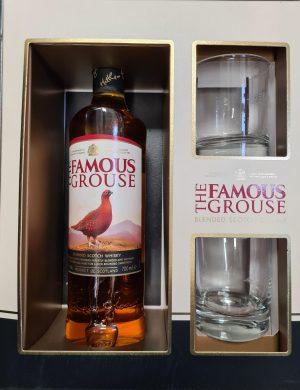 FAMOUS GROUSE Whisky 70cl met 2 Glazen